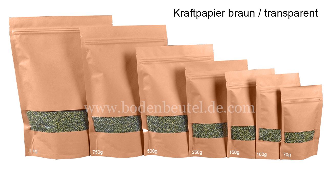 Kraftpapier braun/transperent